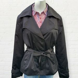Y exchange fall or spring short trench coat